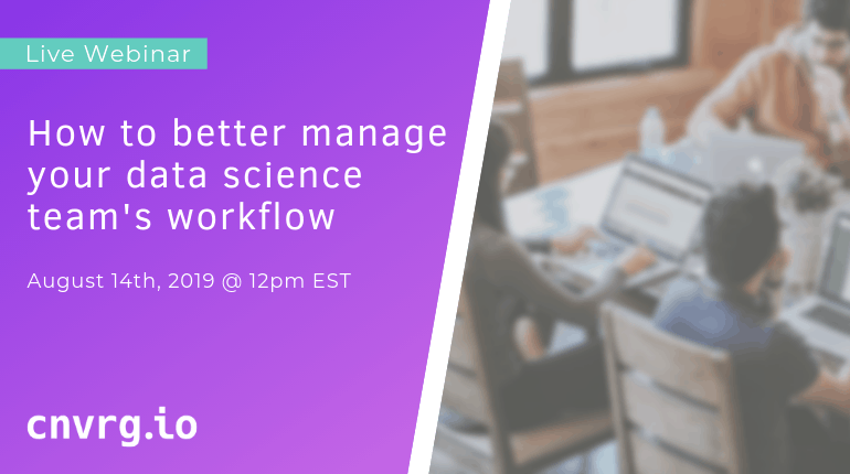 Webinar: How to better manage your data science team's workflow